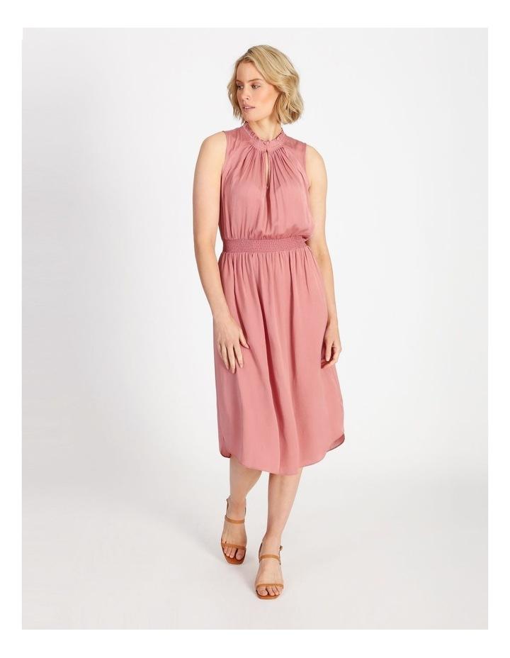 Shirre Waist Midi Dress image 1