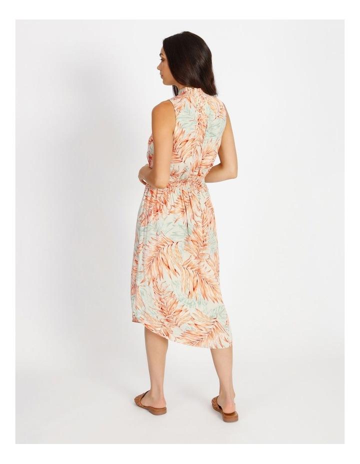 Shirred Waist Midi Dress image 3