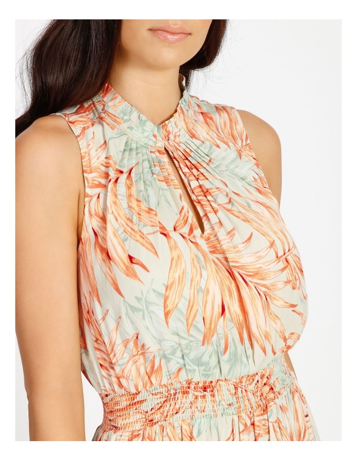 Shirred Waist Midi Dress image 4