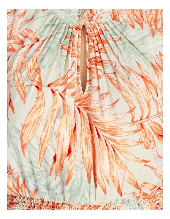 Shirred Waist Midi Dress image 6