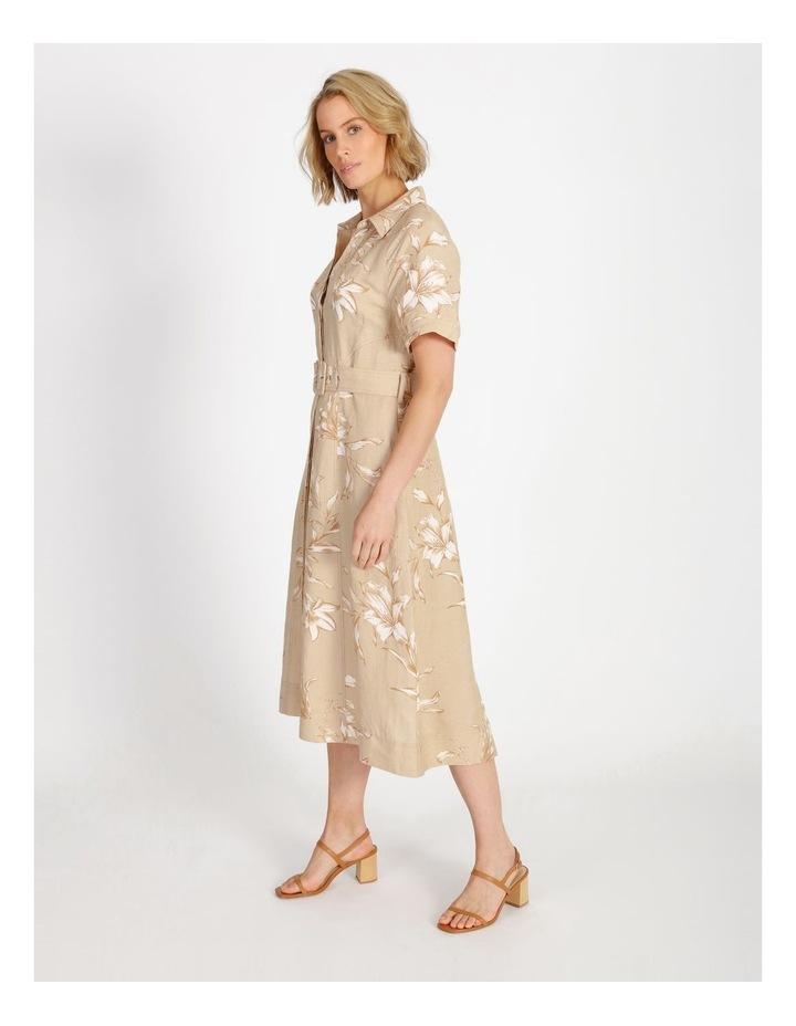 Floral Printed Linen Shirt Dress image 2