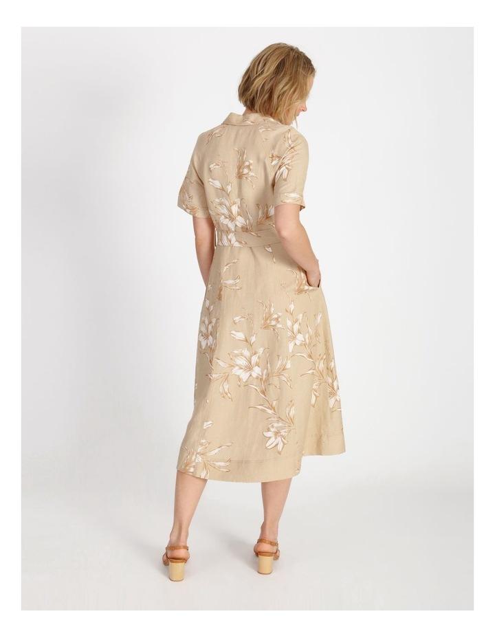 Floral Printed Linen Shirt Dress image 3