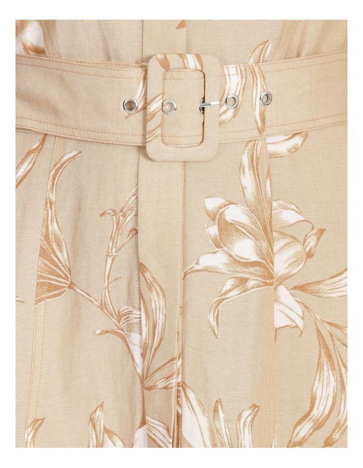Floral Printed Linen Shirt Dress image 5