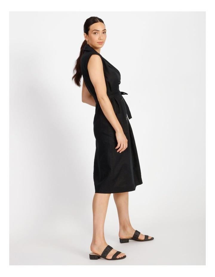 Organic Linen Shirt Dress image 2