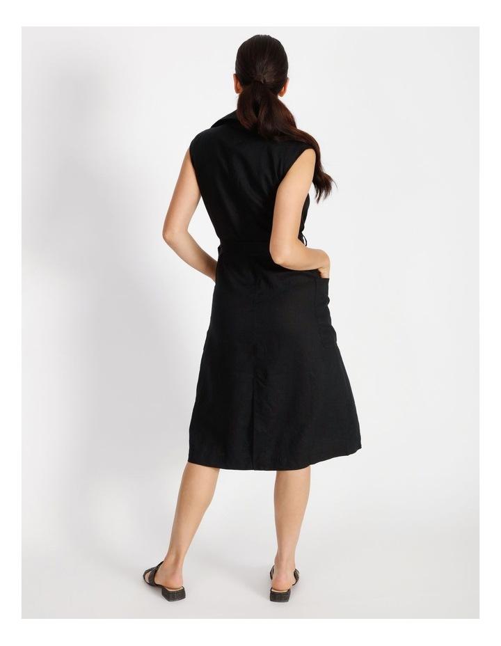 Organic Linen Shirt Dress image 3