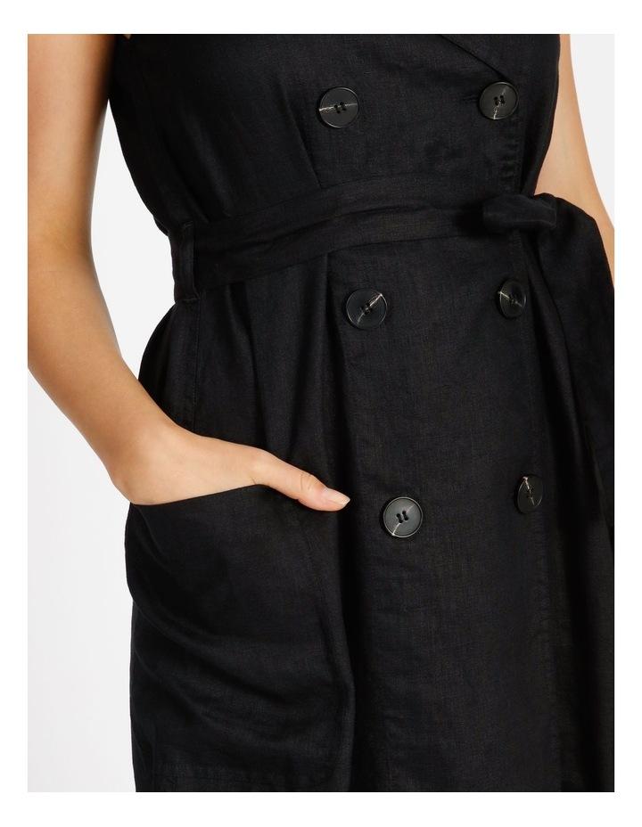Organic Linen Shirt Dress image 4