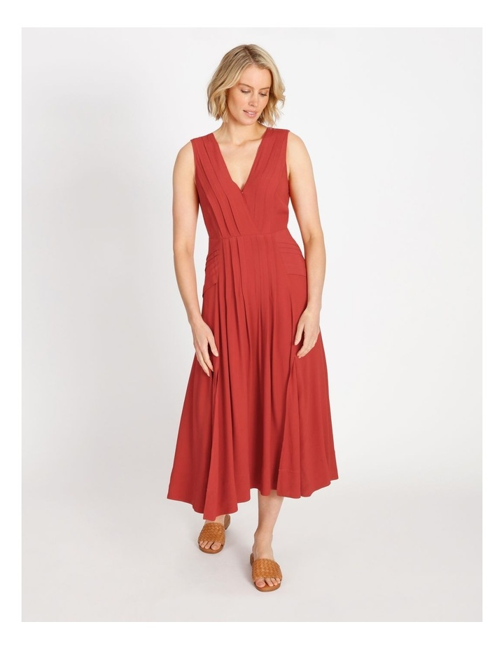 Pleat Summer Midi Dress image 1