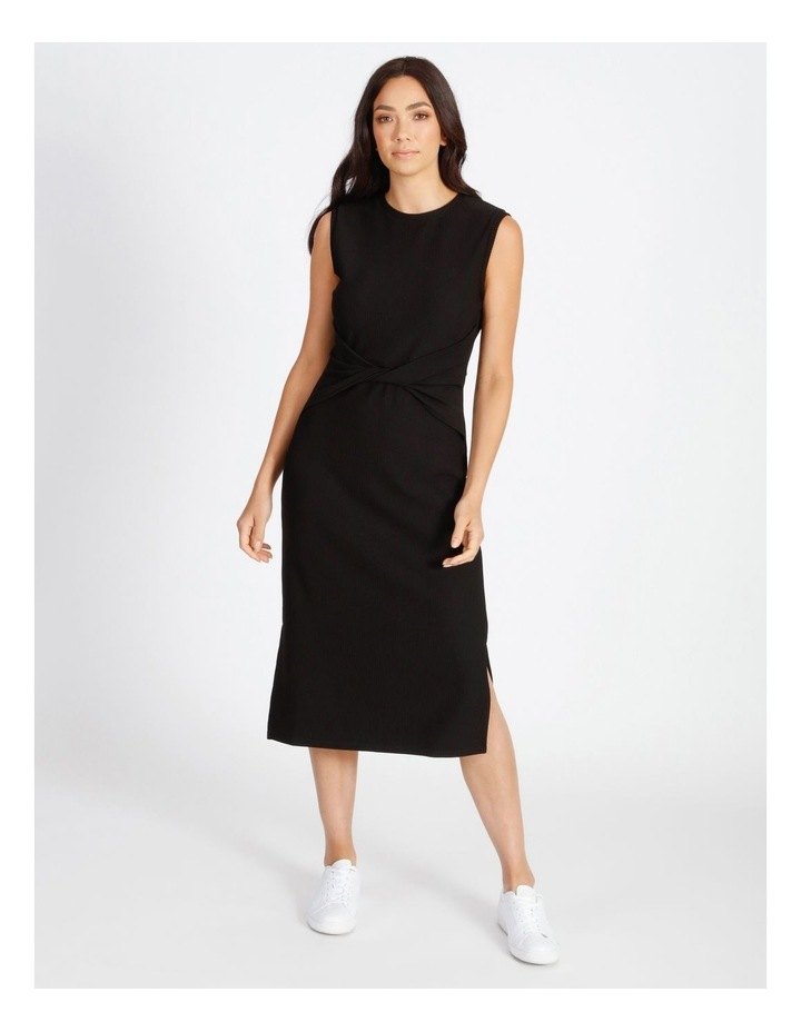 Twist Bodice Ribbed Jersey Dress image 1