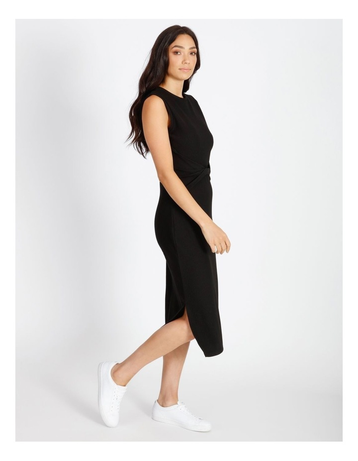 Twist Bodice Ribbed Jersey Dress image 2