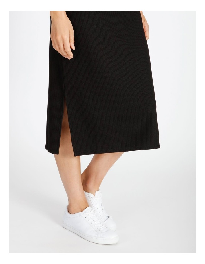 Twist Bodice Ribbed Jersey Dress image 6