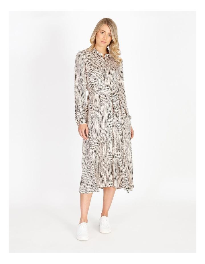 Printed Wrap Shirt Dress image 1