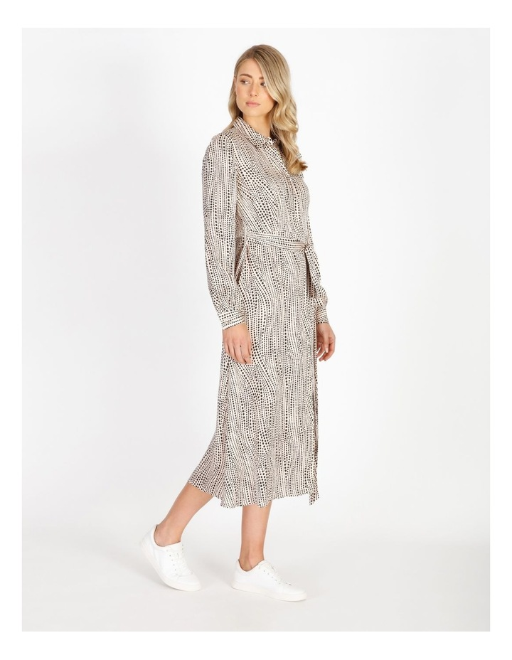 Printed Wrap Shirt Dress image 2