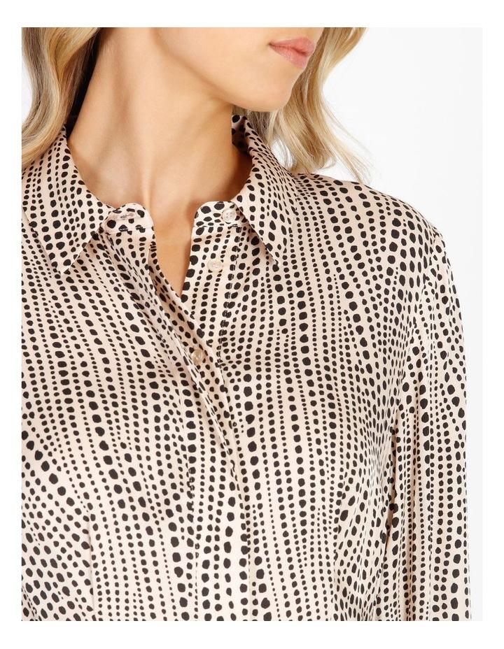 Printed Wrap Shirt Dress image 4