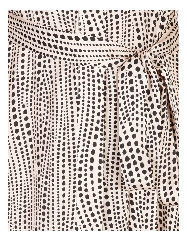 Printed Wrap Shirt Dress image 5