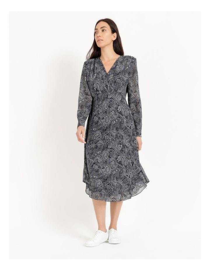 Wrap Bodice Midi Dress image 1