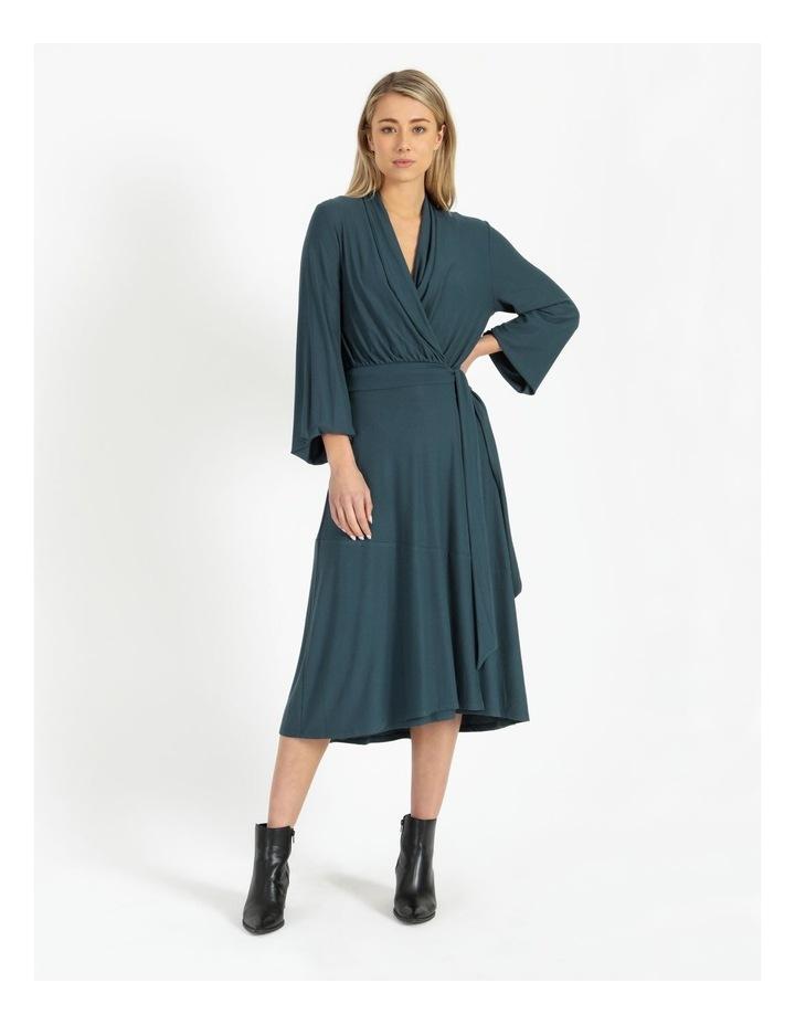Puff Sleeve Wrap Jersey Dress image 1