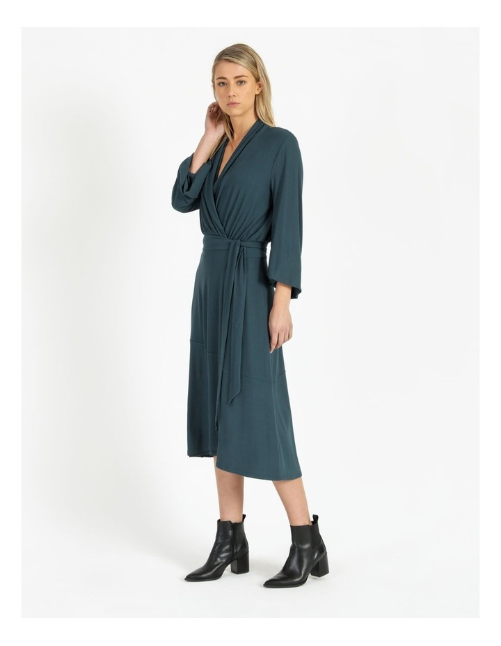 Puff Sleeve Wrap Jersey Dress image 2