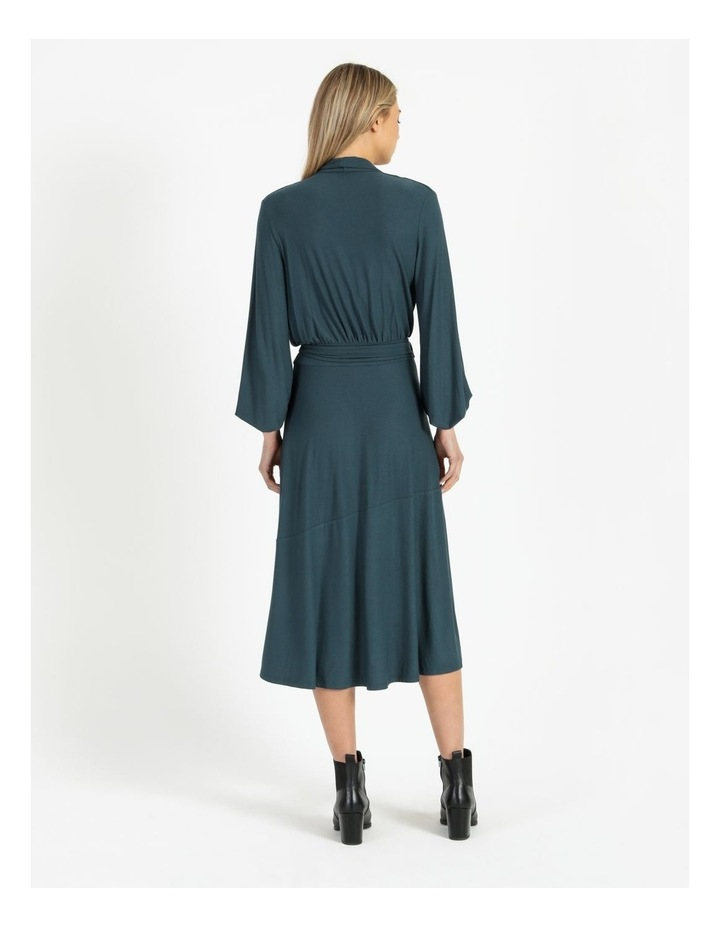 Puff Sleeve Wrap Jersey Dress image 3