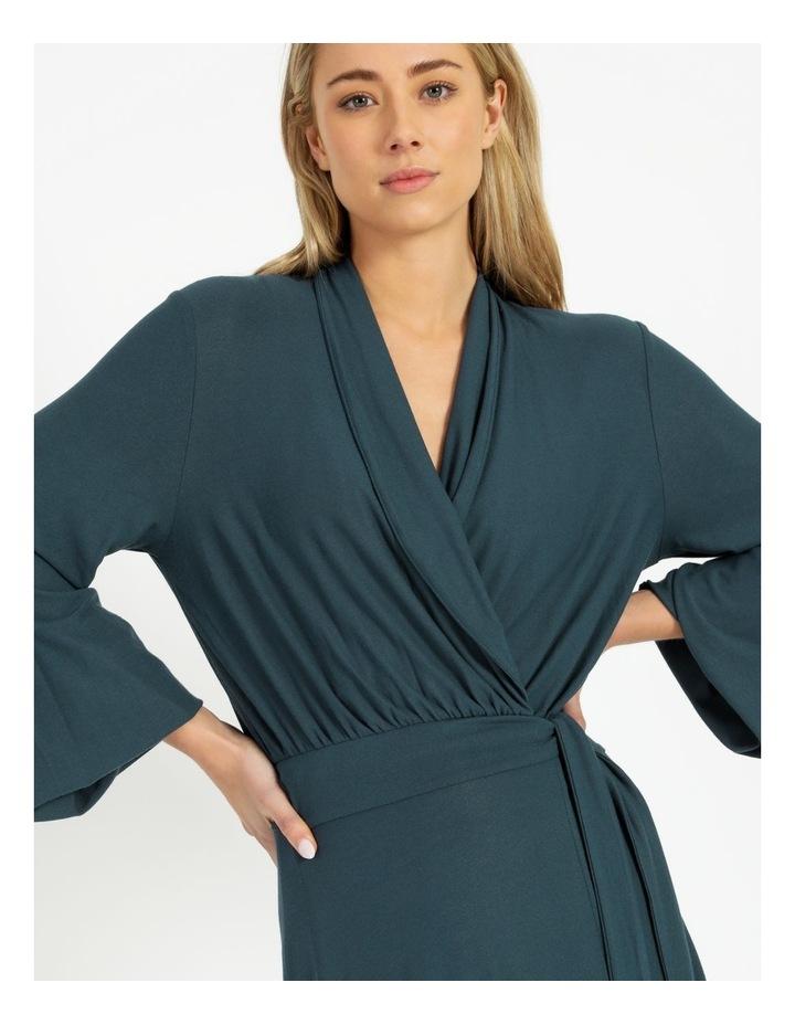Puff Sleeve Wrap Jersey Dress image 4