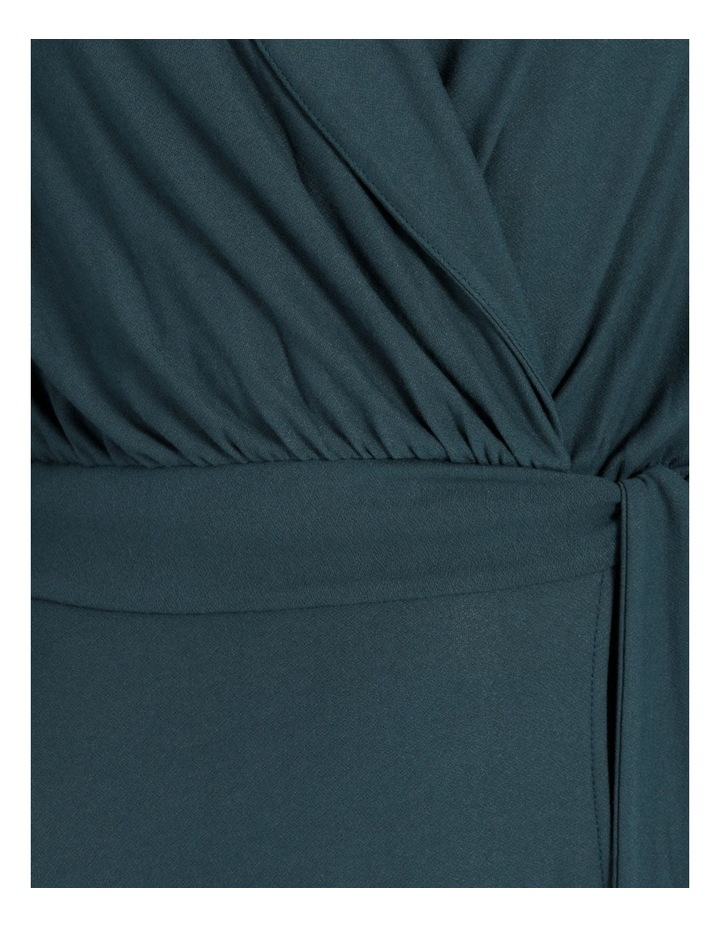 Puff Sleeve Wrap Jersey Dress image 5