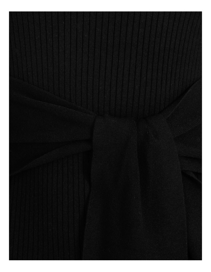 Tie Front Ribbed Midi Dress image 5