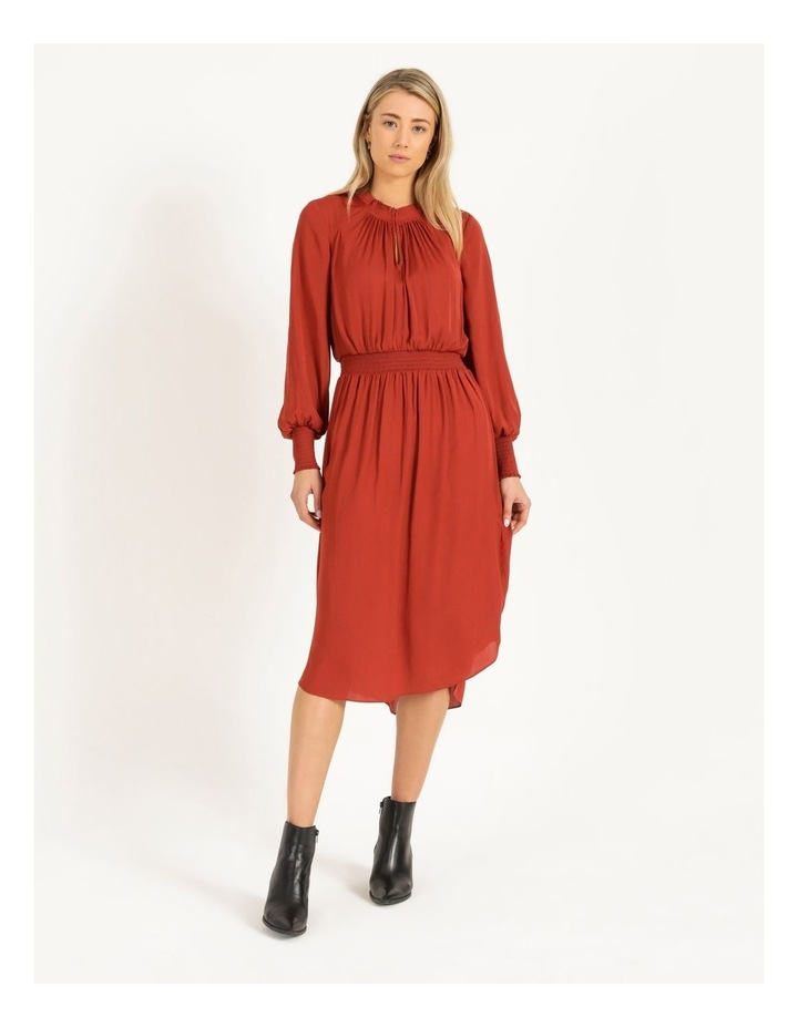 Shirred Detail Long Sleeve Dress image 1