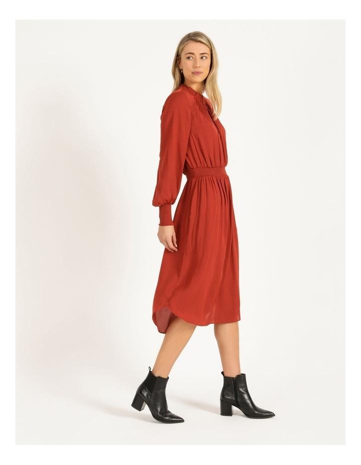 Shirred Detail Long Sleeve Dress image 2