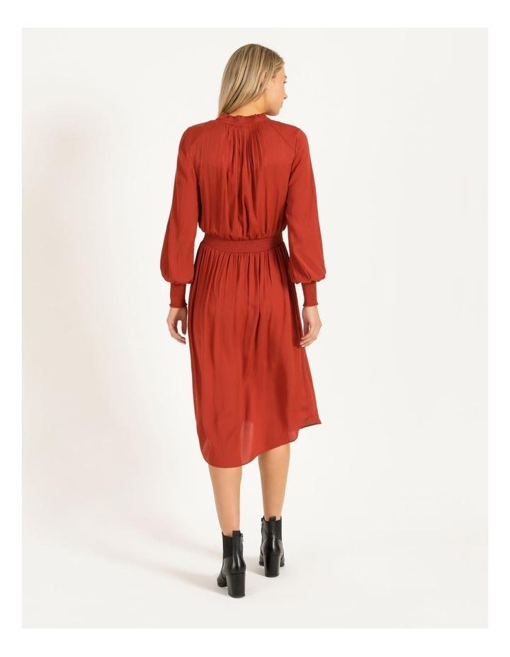 Shirred Detail Long Sleeve Dress image 3