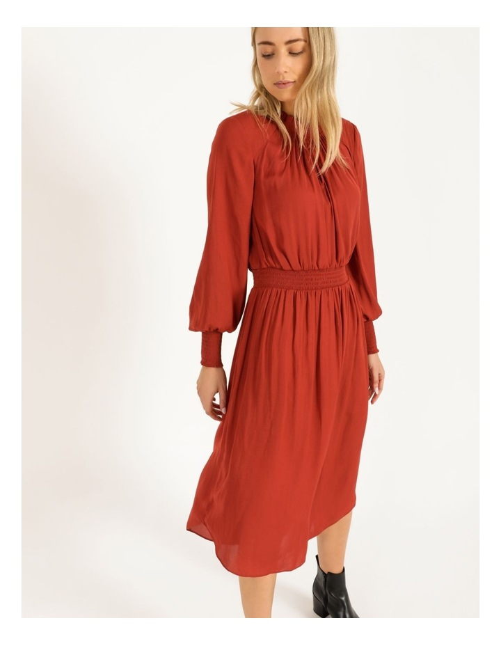 Shirred Detail Long Sleeve Dress image 4
