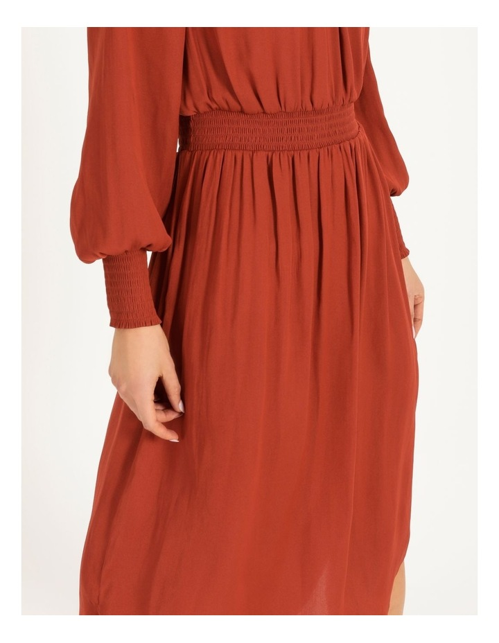 Shirred Detail Long Sleeve Dress image 5