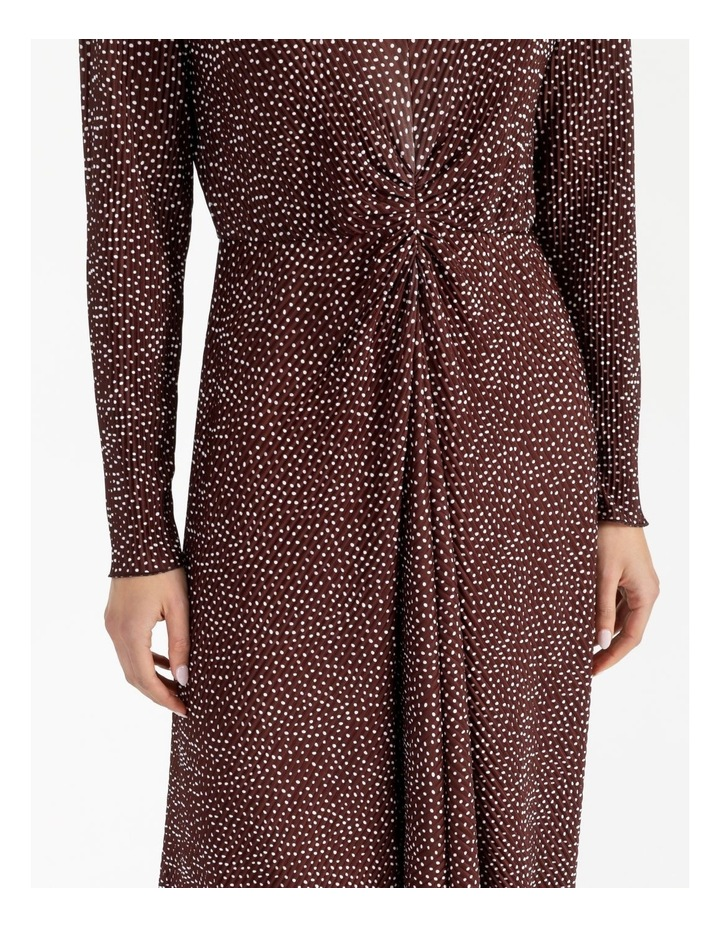 Tuck Detail Long Sleeve Jersey Dress image 4