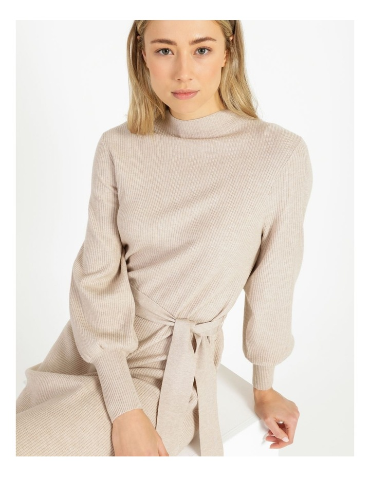 Puff Sleeve Ribbed Knitted Dress image 6