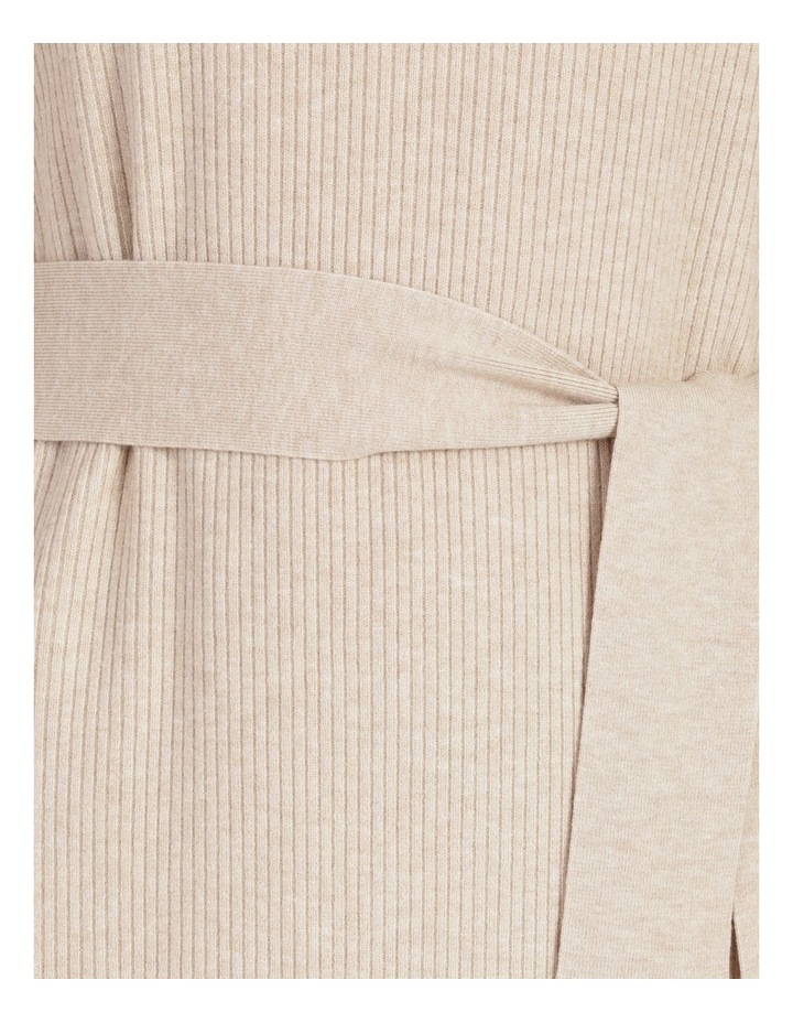 Puff Sleeve Ribbed Knitted Dress image 7