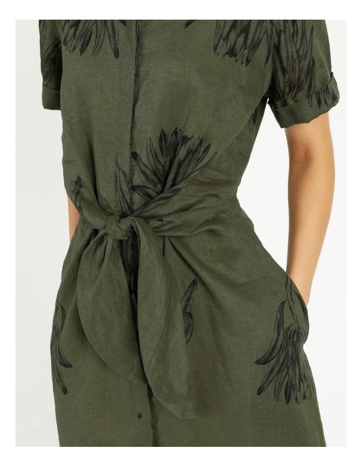 Tie Front Linen Dress image 3