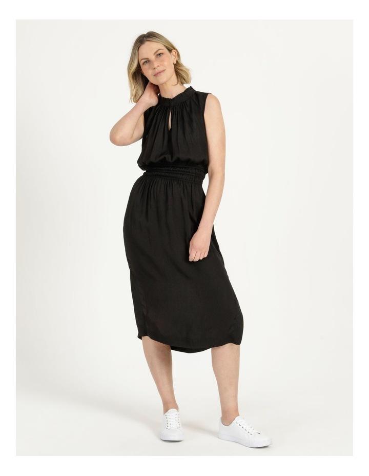 Shirred Waist Midi Dress image 2
