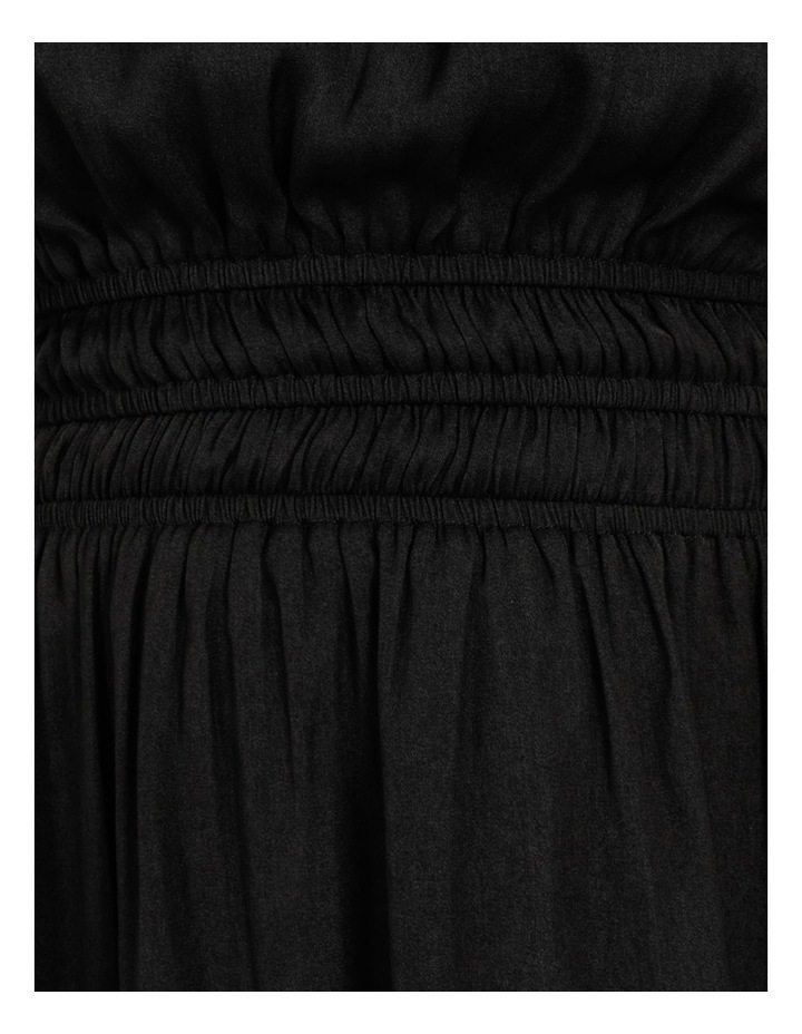 Shirred Waist Midi Dress image 7