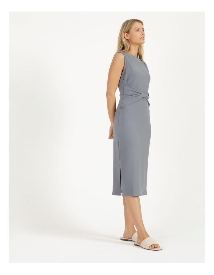 Twist Bodice Ribbed Jersey Dress image 3