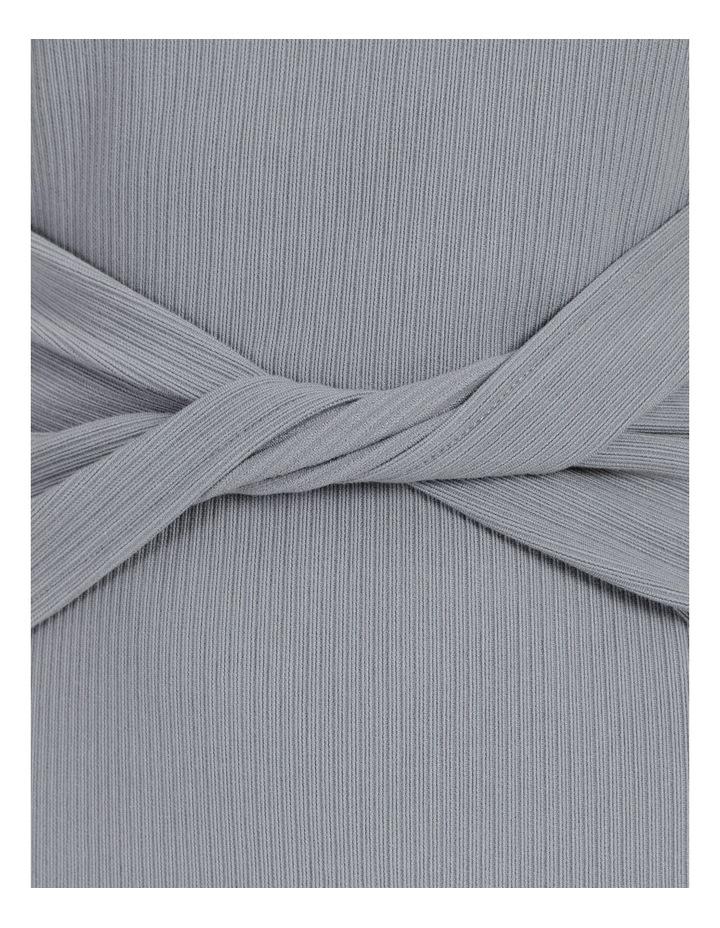 Twist Bodice Ribbed Jersey Dress image 7