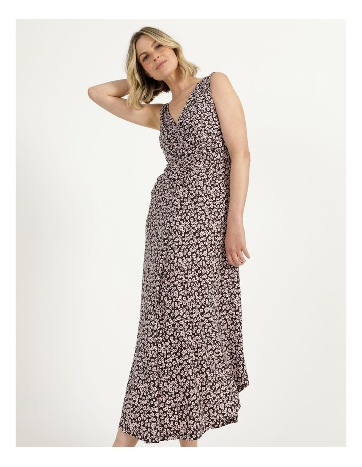 V Neck Tuck Front Jersey Dress image 1