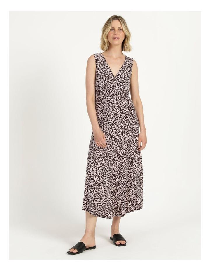 V Neck Tuck Front Jersey Dress image 2