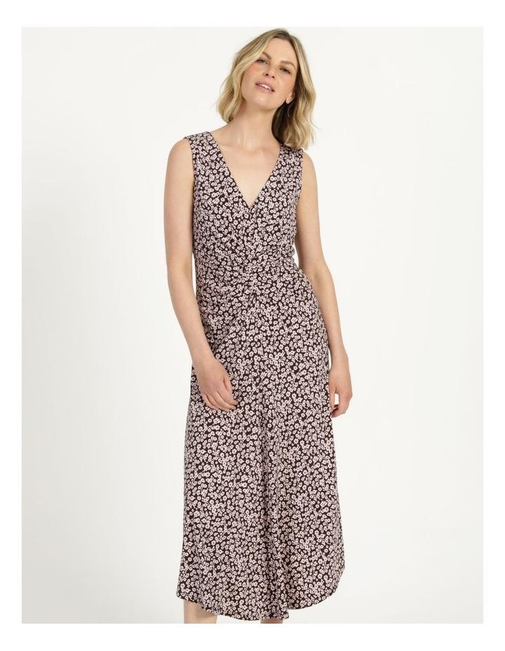 V Neck Tuck Front Jersey Dress image 3