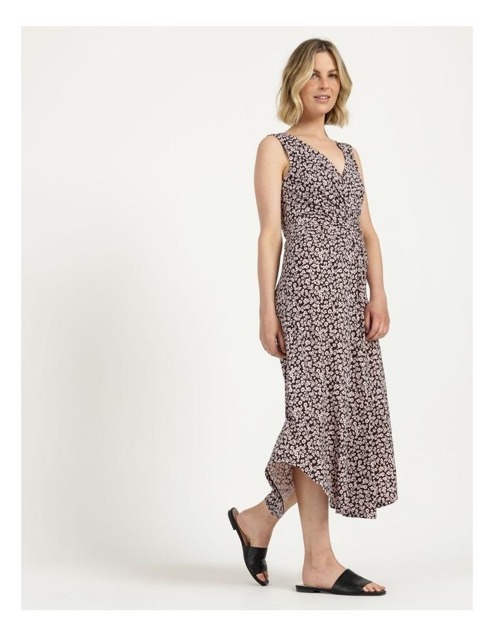 V Neck Tuck Front Jersey Dress image 4