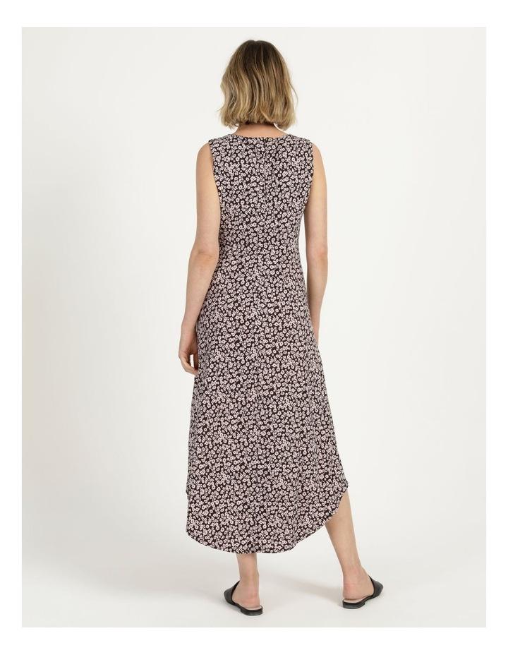 V Neck Tuck Front Jersey Dress image 5