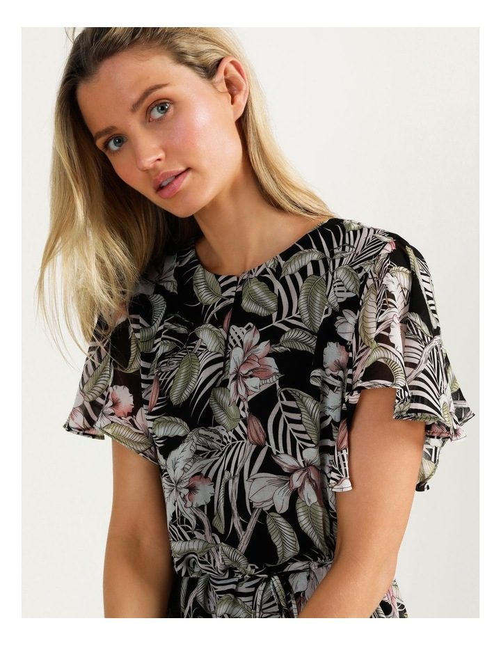 Flutter Sleeve Mini Dress White Cocoa Floral image 3