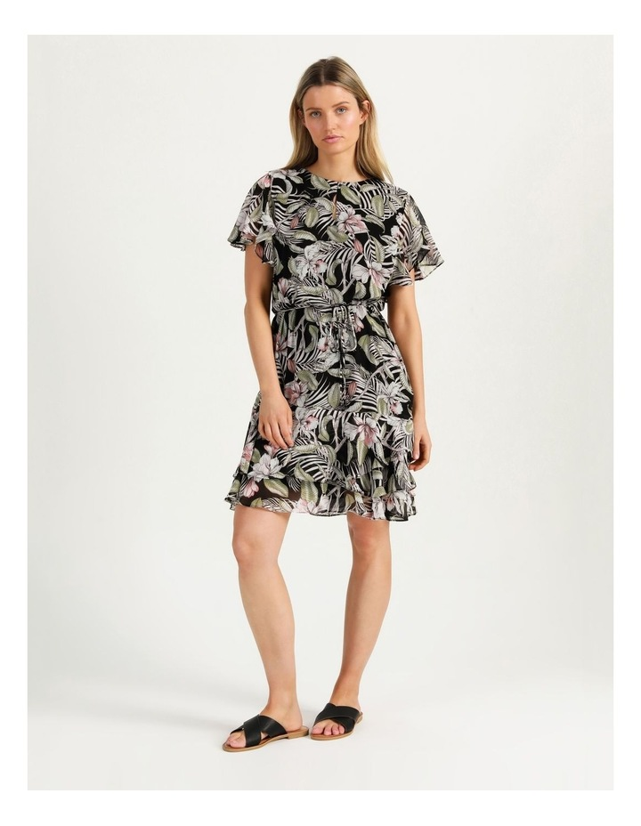 Flutter Sleeve Mini Dress White Cocoa Floral image 4