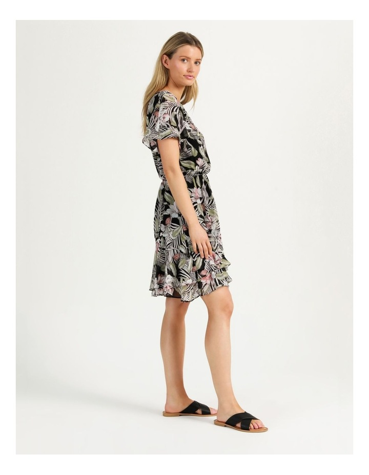 Flutter Sleeve Mini Dress White Cocoa Floral image 5