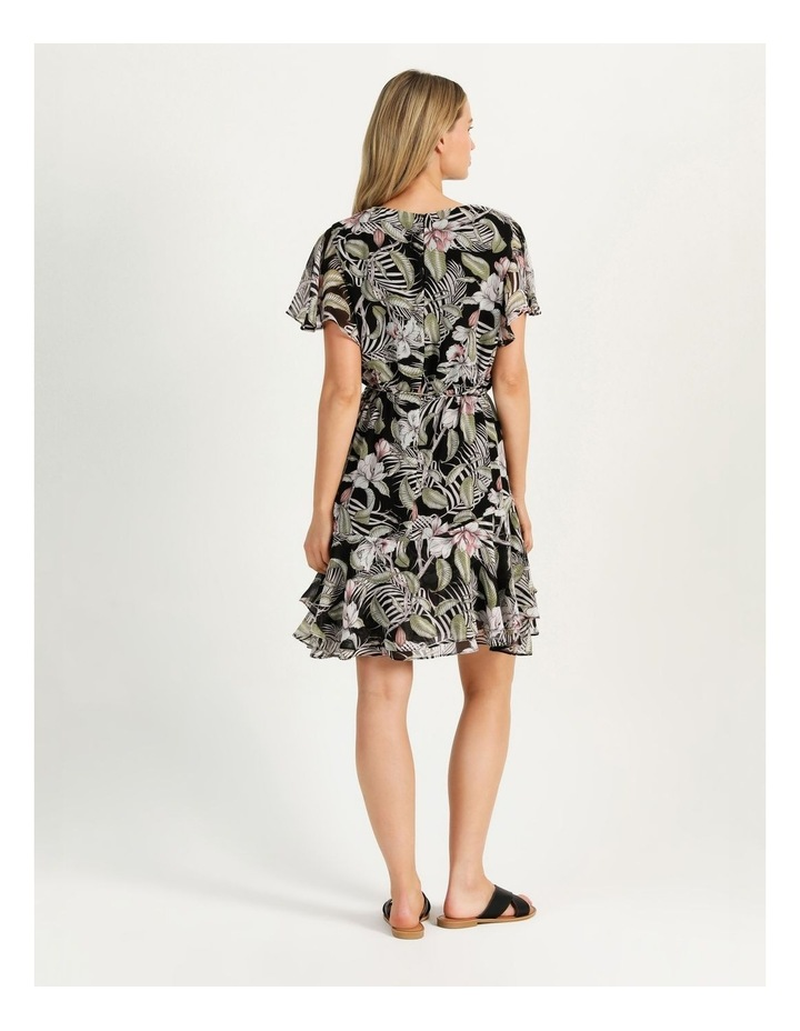 Flutter Sleeve Mini Dress White Cocoa Floral image 6