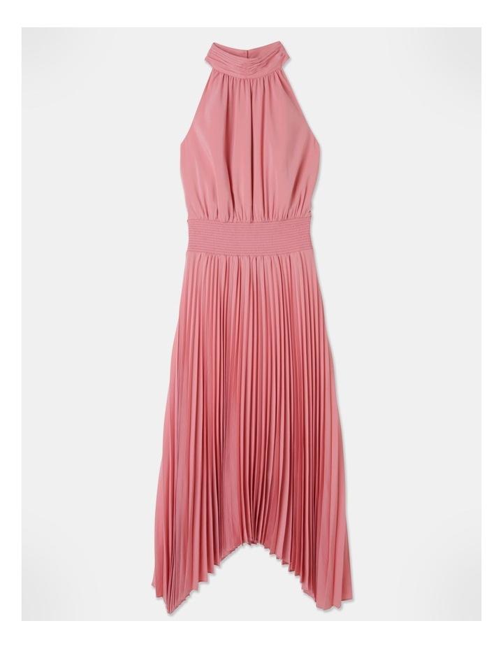 Pleated Halter Neck Midi Dress image 1