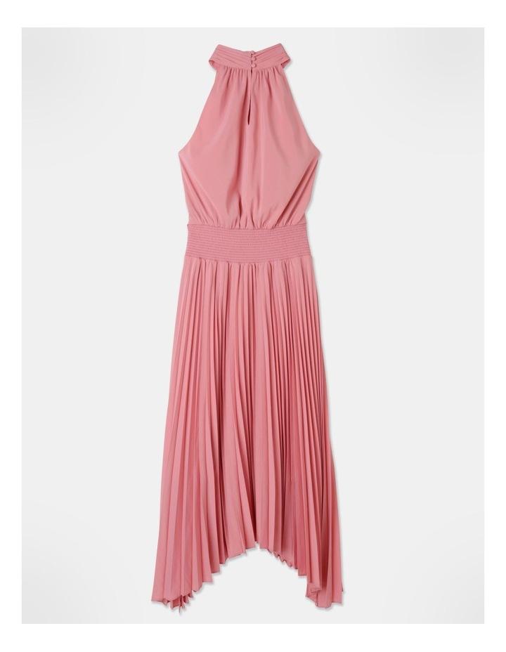 Pleated Halter Neck Midi Dress image 3