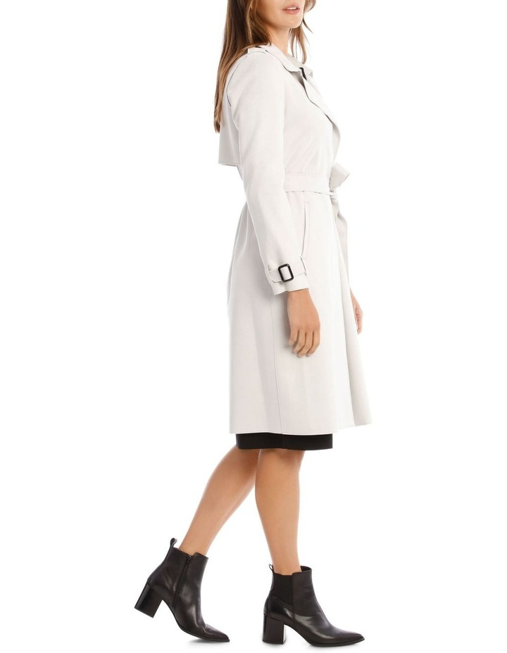 Suedette Trench Coat image 2